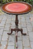 SOLD - Georgian Style Mahogany Leather Top Wine Table